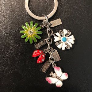 Authentic COACH multi-charm keychain